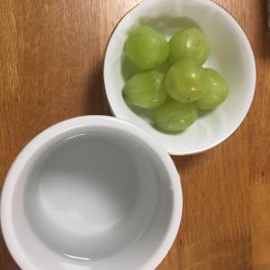 お白湯とぶどう