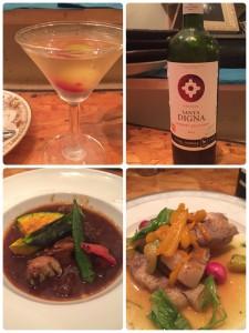 ぶどうとラズベリーのカクテル 赤ワイン 佐賀牛のシチュー 犬鳴ポーク