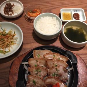 サムギョプサル定食♪